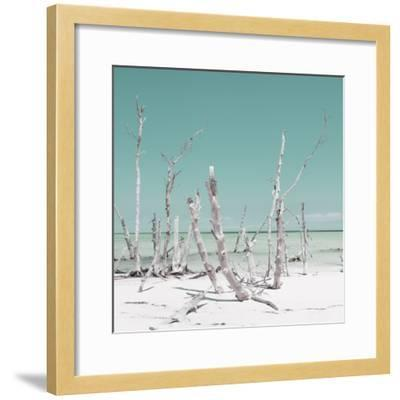 Cuba Fuerte Collection SQ - Wild Ocean - Pastel Turquoise-Philippe Hugonnard-Framed Photographic Print