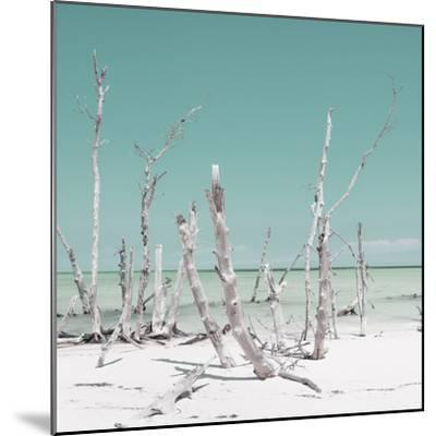 Cuba Fuerte Collection SQ - Wild Ocean - Pastel Turquoise-Philippe Hugonnard-Mounted Photographic Print