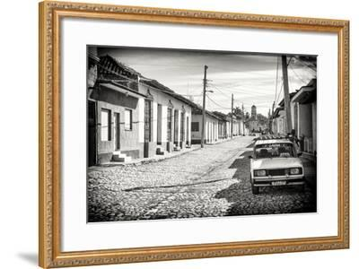 Cuba Fuerte Collection B&W - Lada Taxi in Trinidad-Philippe Hugonnard-Framed Photographic Print