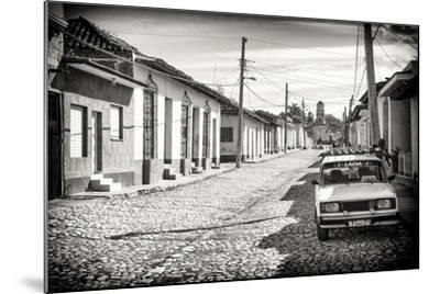 Cuba Fuerte Collection B&W - Lada Taxi in Trinidad-Philippe Hugonnard-Mounted Photographic Print
