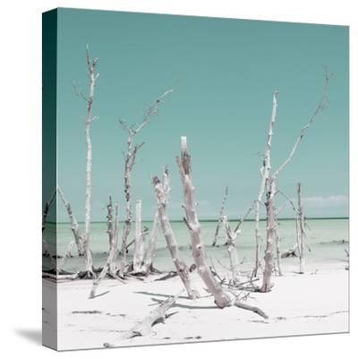 Cuba Fuerte Collection SQ - Wild Ocean - Pastel Turquoise-Philippe Hugonnard-Stretched Canvas Print