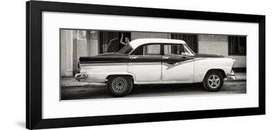 Cuba Fuerte Collection Panoramic BW - American Classic Car in Havana-Philippe Hugonnard-Framed Photographic Print