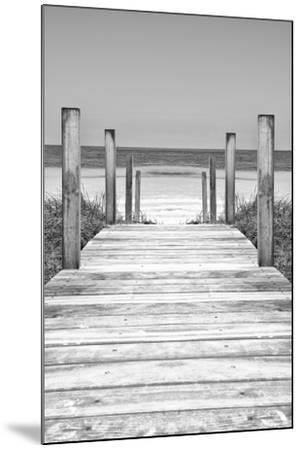 Cuba Fuerte Collection B&W - Wooden Pier on Tropical Beach X-Philippe Hugonnard-Mounted Photographic Print