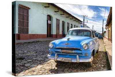 Cuba Fuerte Collection - Plymouth Classic Car-Philippe Hugonnard-Stretched Canvas Print
