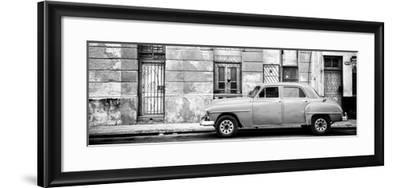 Cuba Fuerte Collection Panoramic BW - Vintage American Car in Havana-Philippe Hugonnard-Framed Photographic Print