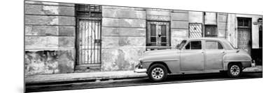 Cuba Fuerte Collection Panoramic BW - Vintage American Car in Havana-Philippe Hugonnard-Mounted Photographic Print