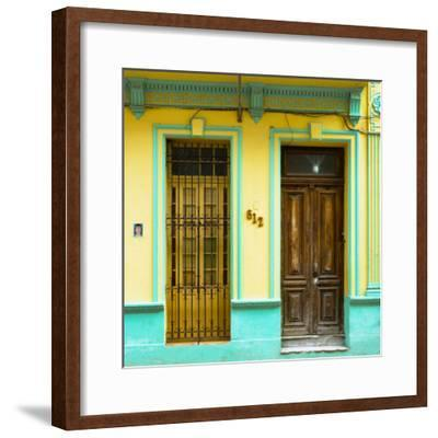 Cuba Fuerte Collection SQ - 612 Street Havana - Yellow and Green-Philippe Hugonnard-Framed Photographic Print