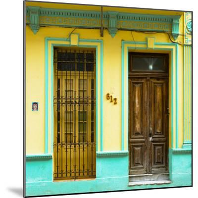 Cuba Fuerte Collection SQ - 612 Street Havana - Yellow and Green-Philippe Hugonnard-Mounted Photographic Print