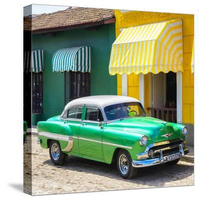 Cuba Fuerte Collection SQ - Cuban Green Taxi-Philippe Hugonnard-Stretched Canvas Print