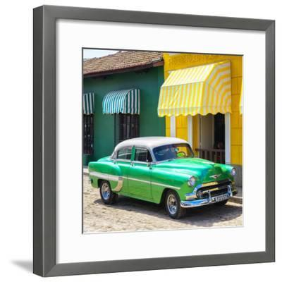 Cuba Fuerte Collection SQ - Cuban Green Taxi-Philippe Hugonnard-Framed Photographic Print