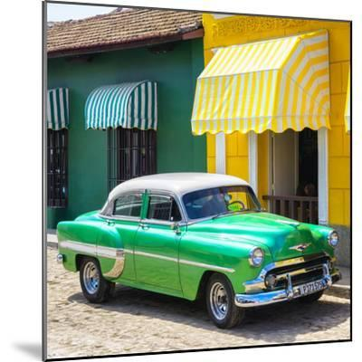 Cuba Fuerte Collection SQ - Cuban Green Taxi-Philippe Hugonnard-Mounted Photographic Print