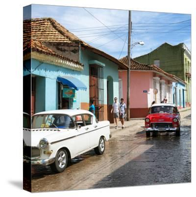Cuba Fuerte Collection SQ - Cuban Street Scene-Philippe Hugonnard-Stretched Canvas Print
