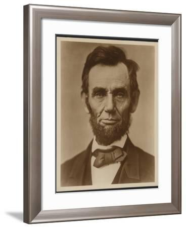 Abraham Lincoln in the Classic Portrait by Alexander Gardner of November 15, 1863--Framed Art Print