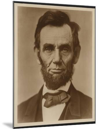Abraham Lincoln in the Classic Portrait by Alexander Gardner of November 15, 1863--Mounted Art Print