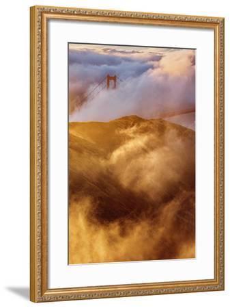 Fog Gate Golden Gate Bridge Unique Perspective San Francisco California-Vincent James-Framed Photographic Print