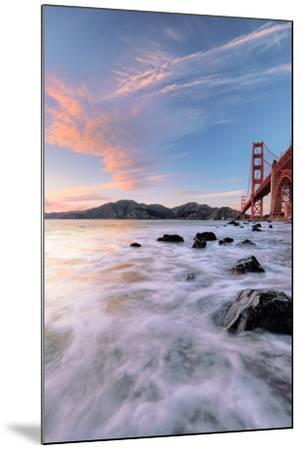 Golden Moment at Marshall Beach Golden Gate Bridge San Francisco-Vincent James-Mounted Photographic Print