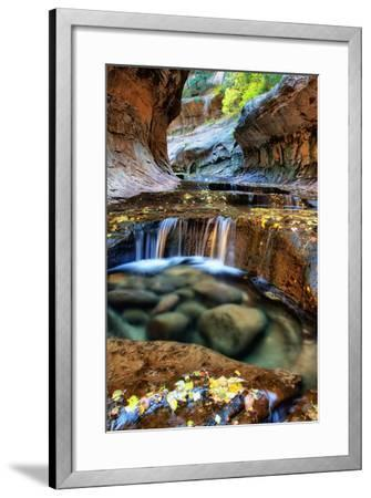 Mesmerizing & Beautiful Subway in Autumn at Zion National Park Utah-Vincent James-Framed Photographic Print