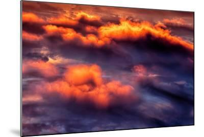 Cloud Fire Abstract Fluffy Nature Detail Red-Vincent James-Mounted Photographic Print