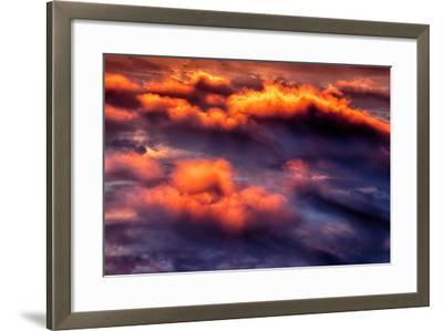 Cloud Fire Abstract Fluffy Nature Detail Red-Vincent James-Framed Photographic Print