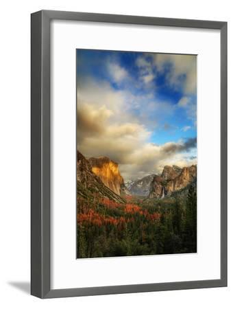 Light & Storm Clears at Tunnel View El Capitan Half Dome Yosemite National Park-Vincent James-Framed Photographic Print