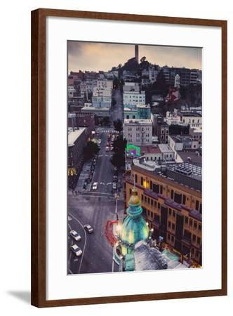 Over North Beach Sentinel Building Coit Tower San Francisco-Vincent James-Framed Photographic Print