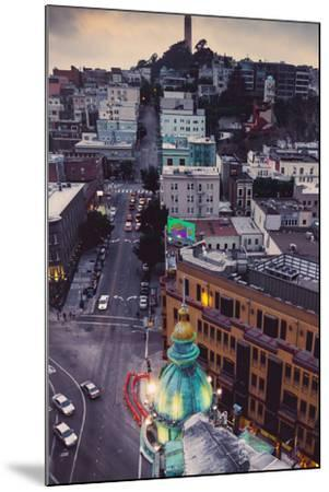 Over North Beach Sentinel Building Coit Tower San Francisco-Vincent James-Mounted Photographic Print