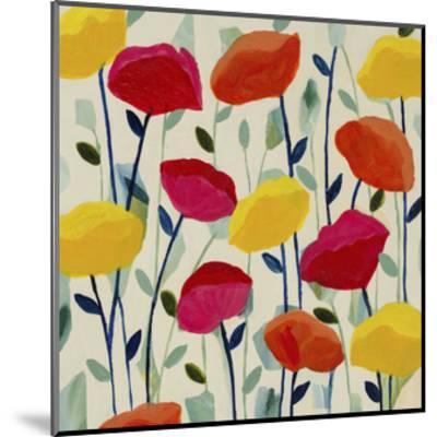 Cheerful Poppies-Carrie Schmitt-Mounted Giclee Print