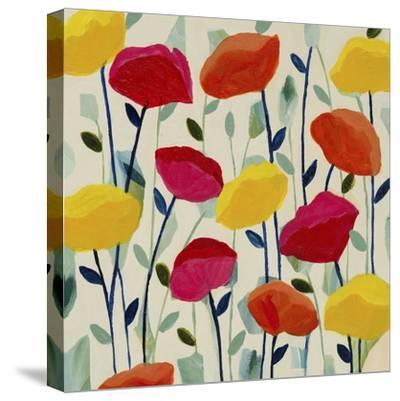 Cheerful Poppies-Carrie Schmitt-Stretched Canvas Print