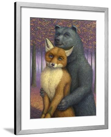 Fox and Bear Couple-W Johnson James-Framed Giclee Print