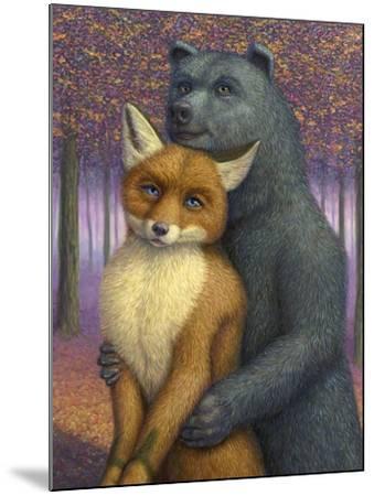 Fox and Bear Couple-W Johnson James-Mounted Giclee Print