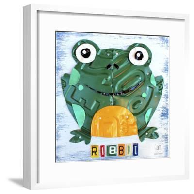Ribbit the Frog-Design Turnpike-Framed Giclee Print