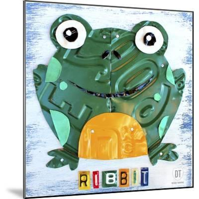 Ribbit the Frog-Design Turnpike-Mounted Giclee Print