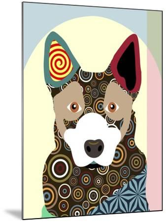 Australian Cattle Dog-Adefioye Lanre-Mounted Giclee Print