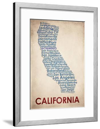 California-American Flat-Framed Giclee Print
