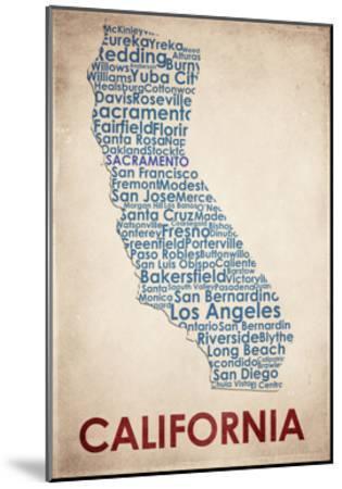 California-American Flat-Mounted Giclee Print