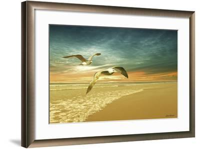 Soft Sunrise on the Beach 6-Carlos Casamayor-Framed Giclee Print