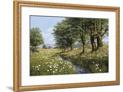 Beeches And Daisies-Bill Makinson-Framed Giclee Print