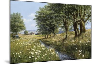 Beeches And Daisies-Bill Makinson-Mounted Giclee Print