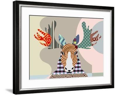 Elk Moose-Adefioye Lanre-Framed Giclee Print