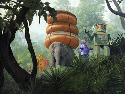 On Tiger Mountain-Eric Joyner-Framed Giclee Print