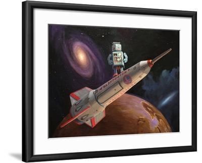 Rocket Surfer-Eric Joyner-Framed Giclee Print