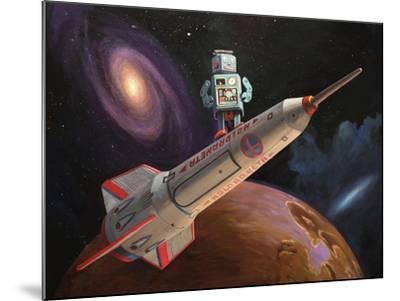 Rocket Surfer-Eric Joyner-Mounted Giclee Print