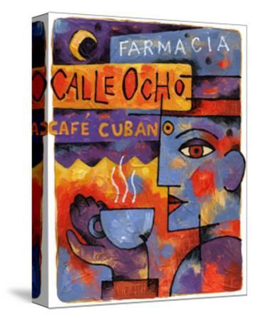Cafe Cubano-Jim Dryden-Stretched Canvas Print