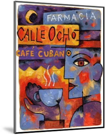 Cafe Cubano-Jim Dryden-Mounted Giclee Print