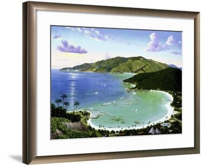 Little Dix Bay - Virgin Islands-Eduardo Camoes-Framed Giclee Print