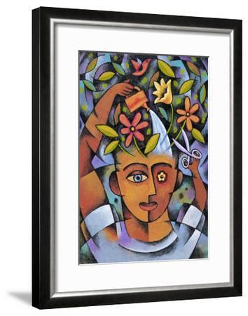 Garden Girl-Jim Dryden-Framed Giclee Print