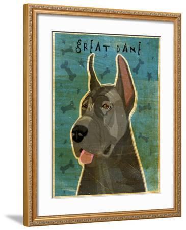Great Dane Blue-John W Golden-Framed Giclee Print