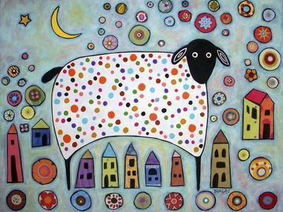 Sheep Collage-Karla Gerard-Framed Giclee Print