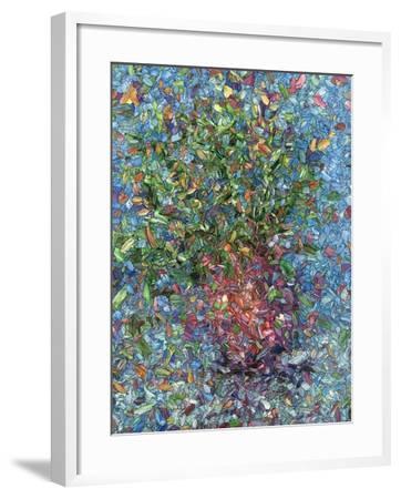 Falling Flowers-James W Johnson-Framed Giclee Print