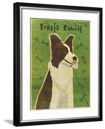 Border Collie-John W Golden-Framed Giclee Print